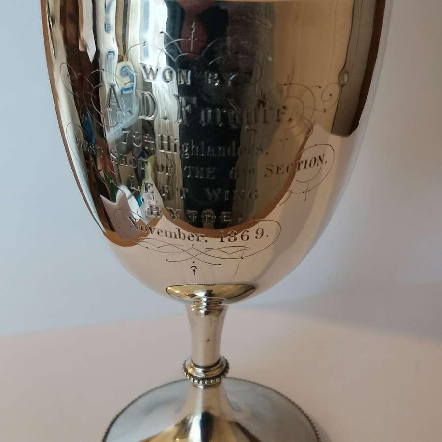 Victorian Silver Military Cup awarded to 78th Highlanders 1869