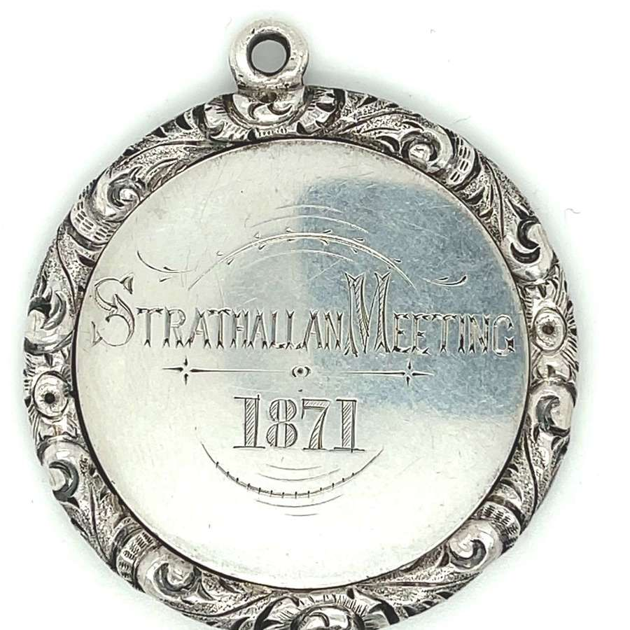 Strathallan Meeting 1871 First Prize for Putting Stone Charles Kerr.